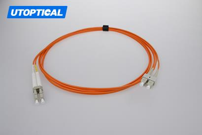 1m (3ft) LC UPC to SC UPC Duplex 2.0mm PVC(OFNR) OM2 Multimode Fiber Optic Patch Cable