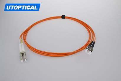 1m (3ft) LC UPC to ST UPC Duplex 2.0mm PVC(OFNR) OM2 Multimode Fiber Optic Patch Cable
