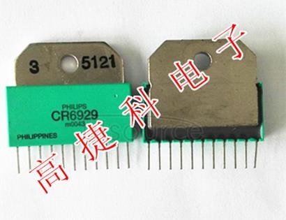 CR6929 Triple video driver hybrid amplifie Triple video driver hybrid amplifie
