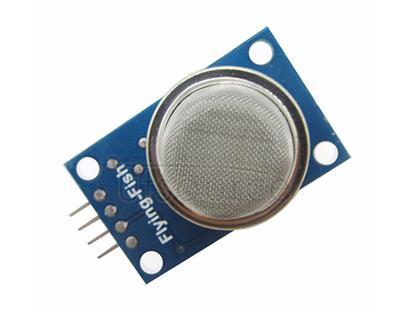 MQ-2 Smoke Sensor Module The MQ-2 Gas sensor can detect or measure gasses like LPG, Alcohol, Propane, Hydrogen, CO and even methane.