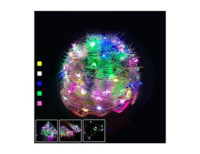 0603 12V / 3 lines , white / yellow / blue / green / pink, 10CM / light, 60 lights, 6 meters long plus XH2.54-2P female head,  environmental protection