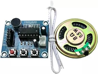 ISD1820 voice recording module, voice module, recording and playing module board, microphone head and 0.5W speaker.