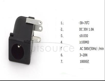 Direct source plug socket 5.5 * 2.1 005 b environmental protection power supply, DC power supply female 5.5 mm x2.5 < 10 PCS >