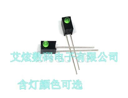 3 MM LED F3 square lamp seat single hole 1P hole LED black interval column 90 degrees without lights(1000PCS/1K)