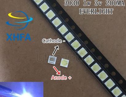 EVERLIGHT LED Backlight 0.8-1W 3030 3V Cool white 70-78LM TV Application 62-113TUN2C/S5000-00F/TR8-T