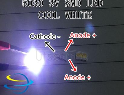 maintenance LCD TV LED backlight SMD LEDs 3V 5030 150MA Cold white light source