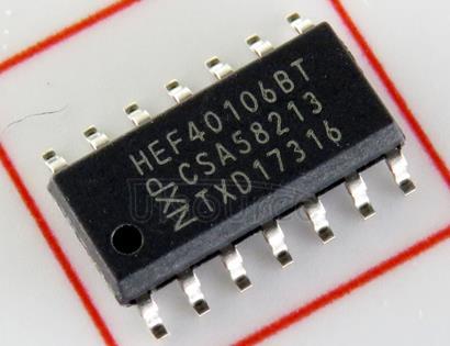 HEF40106BT LOGIC GATE|HEX INVERTER|CMOS|SOP|14PIN|PLASTIC