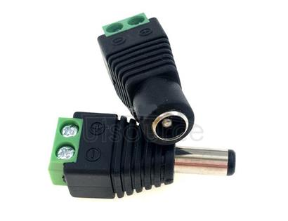 DC power outlet, 5.5 to 2.5 mm from welding a DC 12 v power supply interface male female head plug 1 set