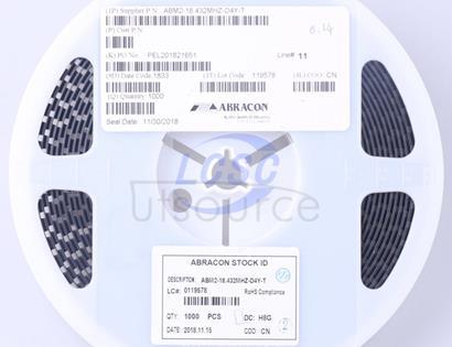 Abracon LLC ABM2-18.432MHZ-D4Y-T