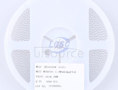 Thunder Component MELF-MFR02041/4WS665KΩFT50(20pcs)