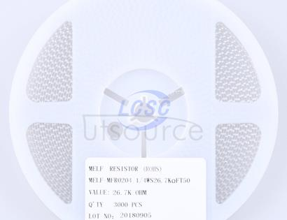 Thunder Component MELF-MFR02041/4WS26.7KΩFT50(20pcs)