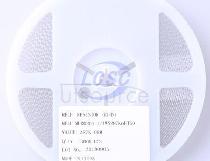 Thunder Component MELF-MFR02041/4WS287KΩFT50