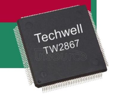 TW2867-QLC1-CR IC DECODER VIDEO 128LQFP