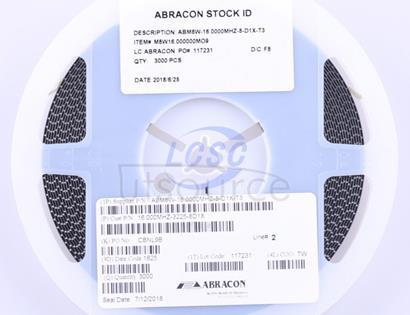 Abracon LLC ABM8W-16.0000MHZ-8-D1X-T3