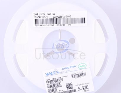 Walsin Tech Corp WA04X102JTL(50pcs)