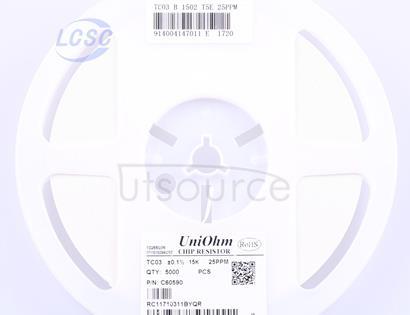 Uniroyal Elec TC0325B1502T5E