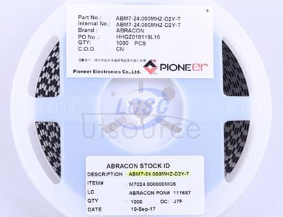 Abracon LLC ABM7-24.000MHZ-D2Y-T