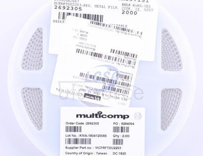Multicomp MCFRFTDU2203