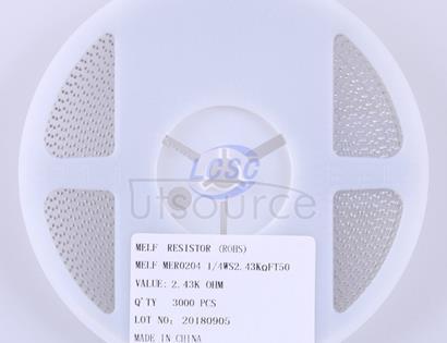 Thunder Component MElF-MFR02041/4WS2.43KΩFT50