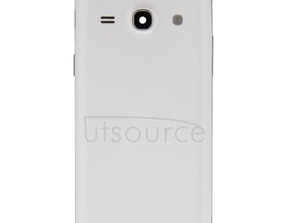 Full Housing Cover(Middle Frame Bazel + Battery Back Cover) for Galaxy Core Plus / G350(White)