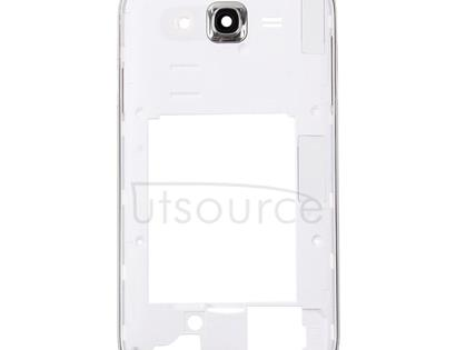 Middle Frame Bezel / Back Plate Housing Camera Lens Panel for Galaxy Grand Neo Plus / i9060i (Single Card Version)(White)