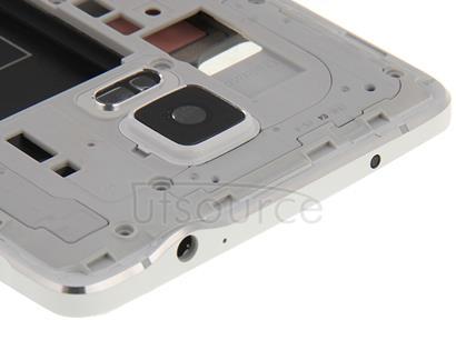 Full Housing Cover (Front Housing LCD Frame Bezel Plate + Middle Frame Bazel Back Plate Housing Camera Lens Panel ) for Galaxy Note 4 / N910F(White)