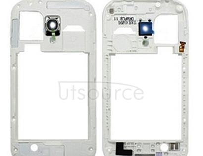 Middle Frame Bazel Back Plate Housing Camera Lens Panel for Galaxy SIII mini / i8190(White)