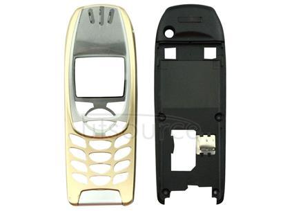 Full Housing Cover (Front Cover + Middle Frame Bezel) for Nokia 6310 / 6310i(Gold)
