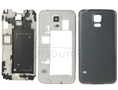 Full Housing Faceplate Cover  for Galaxy S5 / G9008V(Black)