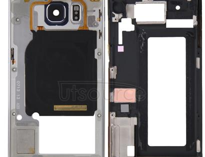 Full Housing Cover (Front Housing LCD Frame Bezel Plate + Back Plate Housing Camera Lens Panel ) for Galaxy S6 Edge / G925(Grey)