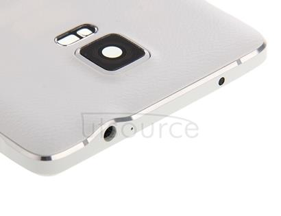 Full Housing Cover (Middle Frame Bazel Back Plate Housing Camera Lens Panel + Battery Back Cover ) for Galaxy Note 4 / N910F(White)