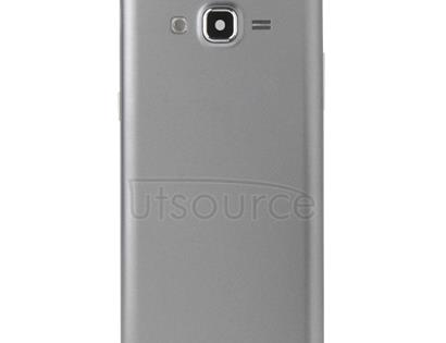Full Housing Cover (Middle Frame Bazel + Battery Back Cover) + Home Button for Galaxy Grand Prime / G530 (Dual SIM Card Version) (Grey)