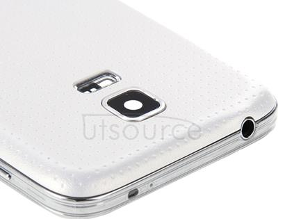 Full Housing Cover (Middle Frame Bazel Back Plate Housing Camera Lens Panel + Battery Back Cover )for Galaxy S5 mini / G800(White)