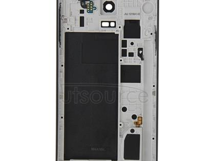Full Housing Cover (Middle Frame Bazel Back Plate Housing Camera Lens Panel + Battery Back Cover ) for Galaxy Note 4 / N910F(Black)