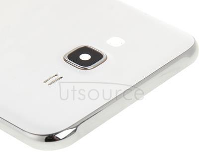 Full Housing Cover(Middle Frame Bazel + Battery Back Cover) for Galaxy J7(White)