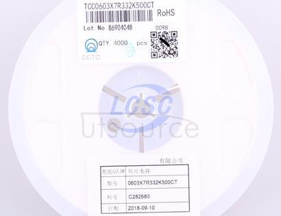 CCTC TCC0603X7R332K500CT
