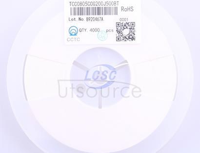 CCTC(三环) TCC0805C0G200J500BT
