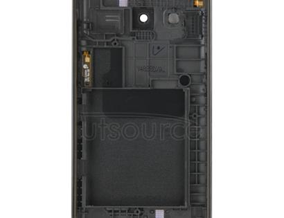 Full Housing Cover (Middle Frame Bazel + Battery Back Cover) + Home Button  for Galaxy Core 2 / G355(Black)