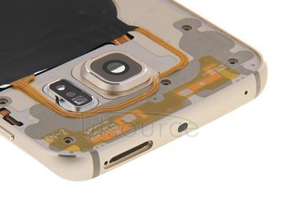 Full Housing Cover (Front Housing LCD Frame Bezel Plate + Back Plate Housing Camera Lens Panel ) for Galaxy S6 Edge / G925(Gold)