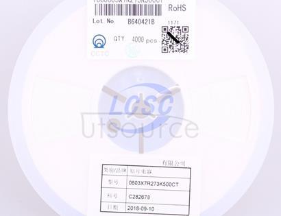 CCTC TCC0603X7R273K500CT