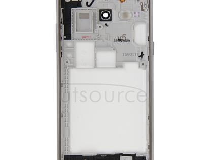 Full Housing Cover (Middle Frame Bazel + Battery Back Cover) for Galaxy J5(2015) / J500(White)