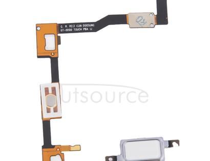 LCD Middle Board with Button Cable,  for Galaxy S II / i9100(White)