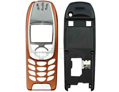 Full Housing Cover (Front Cover + Middle Frame Bezel) for Nokia 6310 / 6310i(Orange)