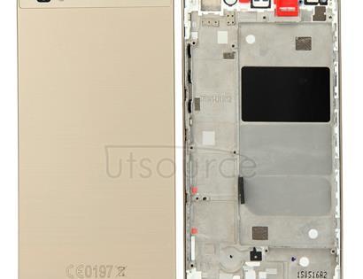 Huawei P8 Lite Full Housing Cover (Front Housing LCD Frame Bezel Plate + Battery Back Cover)(Gold)