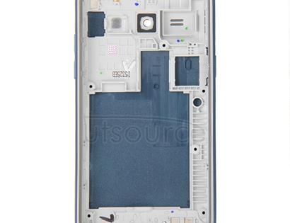 Full Housing Cover(Middle Frame Bazel + Battery Back Cover) + Home Button for Galaxy J1 / J100(Blue)