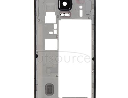 Middle Frame Bazel Back Plate Housing Camera Lens Panel with Speaker Ringer Buzzer and Earphone Hole for Galaxy Note 4 / N910V(Black)