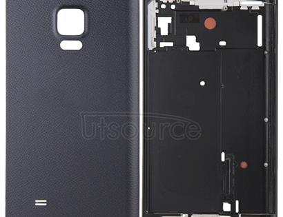 Full Housing Cover (Front Housing LCD Frame Bezel Plate + Battery Back Cover ) for Galaxy Note Edge / N915(Black)