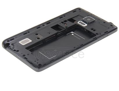 Full Housing Cover (Front Housing LCD Frame Bezel Plate + Middle Frame Bezel ) for Galaxy Note Edge / N915(Black)