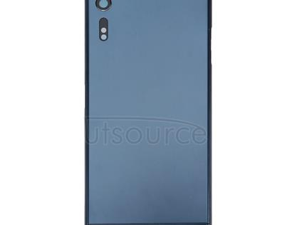 Back Battery Cover + Back Battery Bottom Cover + Middle Frame for Sony Xperia XZ (Dark Blue)
