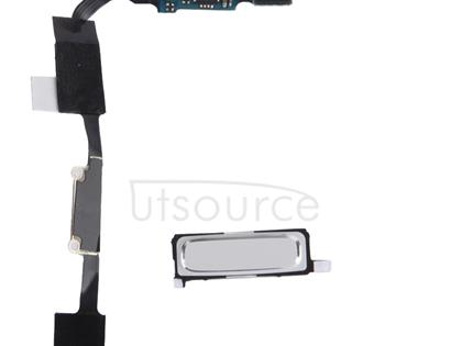 LCD Middle Board with Button Cable,  for Galaxy S IV / i9500(White)